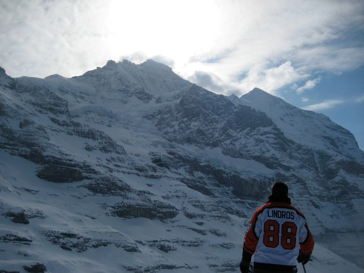 Repping the Flyers in the Swiss Alps